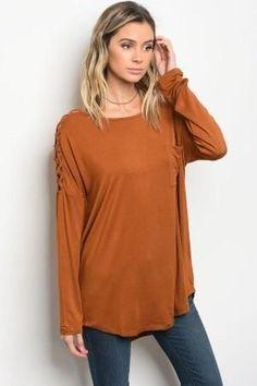 Caged sleeve Camel Shirt