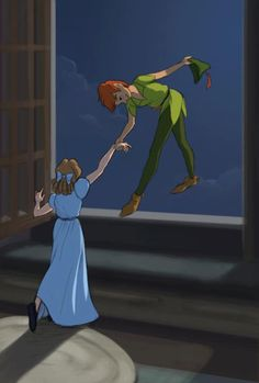 "When Peter and Wendy first met she didn't want to try to fly immedietly but the famous quote is, ""All it takes is faith, trust, and a little bit of pixie dust"" meaning trust Peter and Have faith the pixie dust will do its job."
