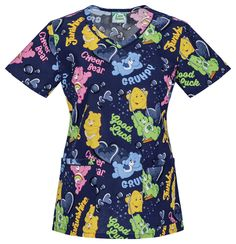 397d78fa64e Tooniforms 'V-Neck Print Top' Scrub Top: A V-neck top features piping  around the front neckline and pocket bands. Roomy patch pockets, bust  darts, ...