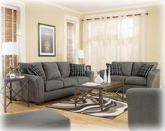 Lexi Contemporary Cobblestone Fabric Living Room Set
