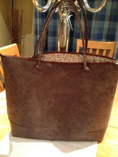Handmade distressed leather tote bag...