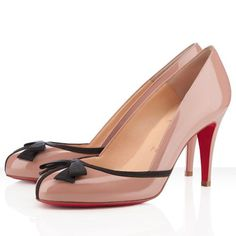 Christian Louboutin Shoes Lavalliere 85 Leather Pumps Nude
