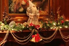 Interior: Glamorous Fireplace Mantel Christmas Decorations With ...
