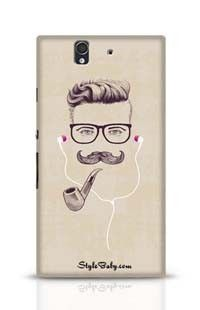 Hipster With Smoking Pipe And Earphones Sony Xperia Z Phone Case