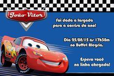 Convite digital personalizado Carros da Disney 012