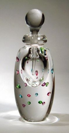 Roger Gandelman art glass perfume bottle