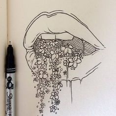 all the pretty things I tried to say to you lexie pitzen, reflexive art, tattoo design, ink, illustration, drawing, artwork, flowers