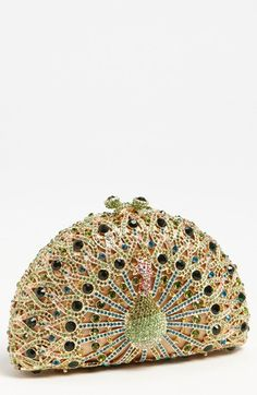 Natasha Couture Peacock Clutch available at #Nordstrom/  I don't know where I am going, but I should take this bag.