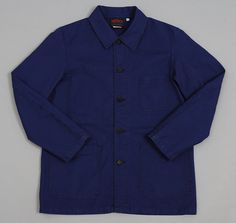 #4 JACKET, HYDRONE BLUE CROISE TWILL :: HICKOREE'S