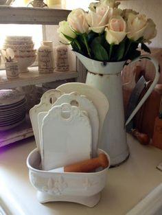 Antique Porcelain Onion Boards