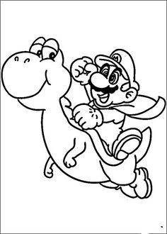 Mario Bross Fargelegging for barn. Tegninger for utskrift og fargelegging nº 10