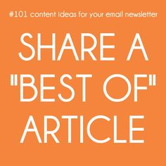 #101 content ideas for your email newsletter