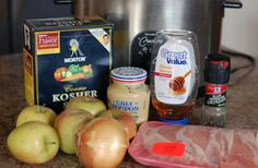 lace pork chops on bottom of crock. Stir honey, Dijon, salt and pepper together. Pour over apples and onions and toss to coat. Place apples and onions on top of pork chops in slow cooker. Cook hours on high or hours on low. Crock Pot Slow Cooker, Crock Pot Cooking, Slow Cooker Recipes, Crockpot Recipes, Pork Recipes, Cooking Recipes, Recipies, Apple Pork Chops, Pork Chops And Apples Crockpot
