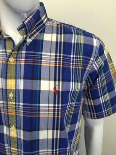 RALPHLAUREN #Mens #Shirt Large CUSTOM FIT Dark #CHECKED #CHEAP ...
