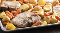This simple sheet-pan pork chop dinner comes together with just five ingredients.