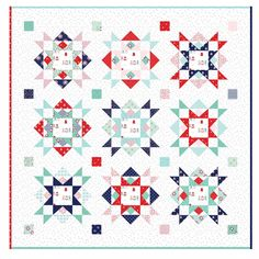 Here's a variation of the Joyful quilt pattern, without the colorful scrappy sashing. Instead, the posts are colorful. Swipe to see the original version with scrappy sashing. Which version do you like best? They're so different, I can't choose! Christmas Blocks, Christmas Ideas, Quilting Designs, Quilt Design, Quilting Ideas, Hobbies And Interests, Original Version, Quilting For Beginners, Quilt Top
