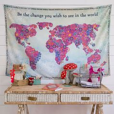 Tapestries are so fun and versatile!! This super-soft tapestry is brightly designed with the sentiment,