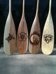Each of my Grandkids got to pick a Totem for their paddle.