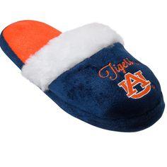 9652e3b83fda55 Auburn Tigers Women s Colorblock Fur Slide Slippers