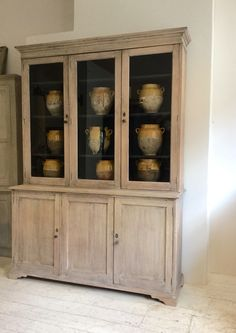 English Late 19thC Bleached Oak Bookcase