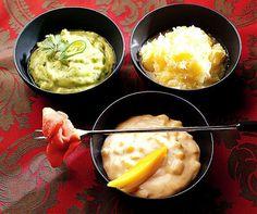 Raffinierte Saucen für Fleisch-Fondues