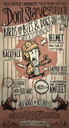 Don't Starve - Wilson - The Birds and the Bees & Dogs That Want to Kill You Art