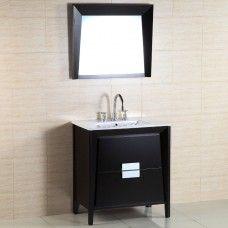Bath> Vanities: 3o-inch Single sink vanity