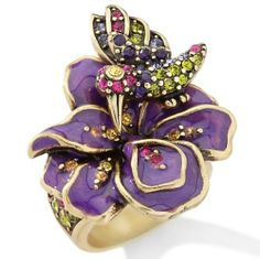 "heidi daus dare to wear   Heidi Daus ""Nectar of Life"" Crystal-Accent ed Enamel Ring Size 6"