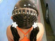 Little girls cute hair style
