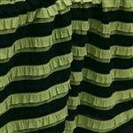 Green with Envy Ruffle- Black & Green Striped Ruffle Fabric, Pink Eyes, Fabric Shop, Green Stripes, Sewing Projects, Sewing Ideas, Envy, Craft Supplies