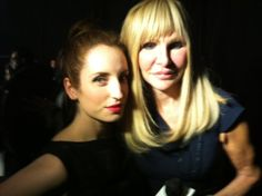 """LivesofStyleTV Lives of Style 4h  SNAPPED! Host Elisabeth Laurence with """"Whitney"""" actress Zoe Lister-Jones at Monika Chiang #NYFW pic.twitter.com/pHgQ5hFa"""