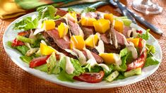 Get inspired with this authentic, flavorful Wish-Bone® recipe: Steak & Mango Southwestern Salad