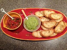 Garlic Scape pesto and Bruschetta - yum!
