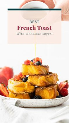 It's time to whip up a batch of the Perfect French Toast. Made from 5 simple ingredients, and ready to enjoy in under 30 minutes. Brunch is served! Healthy Waffles, Healthy Banana Bread, Healthy Breakfast Smoothies, Perfect French Toast, French Bread French Toast, Breakfast Bake, Sweet Breakfast, French Toast Ingredients, Sunday Recipes