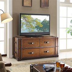 Hmm_rgp.......................................... Riverside Furniture – Latitudes Steamer Trunk TV Console
