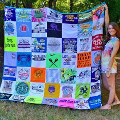 82d880440c Cheer for the Planet: Upcycled and Repurposed Sports Jerseys. Shirt QuiltsT  ...
