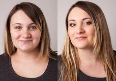 Vorher / Nachher - ARISTOS Fotostudio - Make-up / Before & After Makeup Gala Make Up, Braut Make-up, Makeup, After, Long Hair Styles, Beauty, How To Make, Artist, Pink