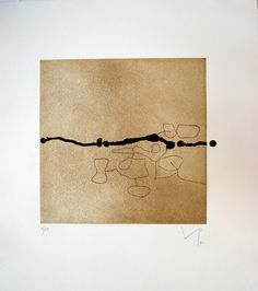 Images on the Wall by Victor Pasmore  1992  POA    Etching. Image 30cm x 30cm