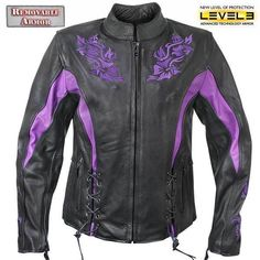 Xelement 2027 Womens Embroidered Flower Soft Thick Leather Motorcycle Jacket  #Xelement #Motorcycle #Outdoor
