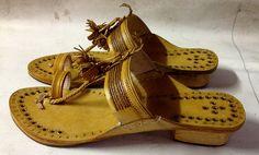Box Heel Ladies Lather sandal