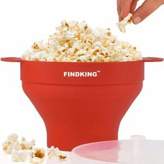 290g Collapsible Silicone Microwave Popcorn Popper Bowl