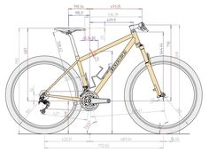 Bicycle Drawing, Bicycle Painting, Mechanical Engineering Design, Mechanical Design, Autocad, Cad Computer, Bike Sketch, Interesting Drawings, Industrial Design Sketch