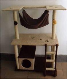 Diy Cat Tower, Cat Tree Plans, Cat Playhouse, Diy Cat Bed, Cat Gym, Cat Tree House, Cat Towers, Cat Playground, Cat Enclosure