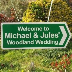 Personalised Double Sided Wedding Sign