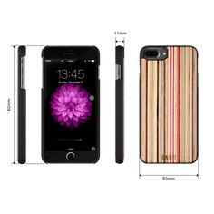 iCASEIT iPhone 8 Wood Case - Premium Finish Unique Cases - Lightweight Natural Wooden Hybrid Snap-on Protective Cover for iPhone 7 & 8 - - Rainbow Iphone 7 Plus Cases, Watch Case, Apple Watch, Cell Phone Accessories, Handmade, Woods, Rainbow, Places, Bamboo