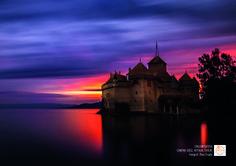 Chillon Şatosu. Cenevre Gölü, Veytaux, İsviçre. Fotoğraf: İlhan Eroğlu.