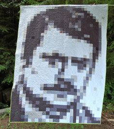 The Ron Swanson Quilt Along by Happy Zombie. Now that's what I call iRONic quilting!