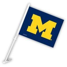 Michigan Wolverines Car Flag