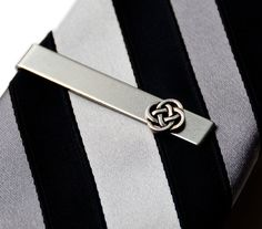 Celtic Tie Clip Gift Box Included Guaranteed by Mancornas on Etsy, $25.75