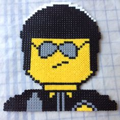 Bad Cop/Good Cop  - Lego Movie character  perler beads by perler_beads_fun